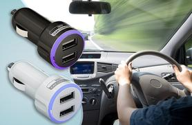 £3.99 instead of £19.99 (from ClickWrap) for a dual USB in-car charger - save 80%