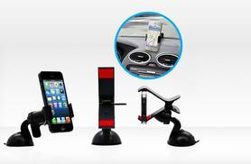 £5 instead of £19.99 (from Mobileheads) for a universal in-car windscreen mount phone holder - save 75%