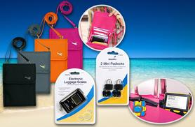 £12.99 instead of £49.99 (from Emyub) for a 5-piece travel accessory bundle - choose from 4 colours & save 74%