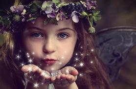 £10 instead of £149 for a fairy photoshoot for up to 2 children including a photo mug, 2 keyrings & a fairy wand to take home at Mackney Photography - save 93%