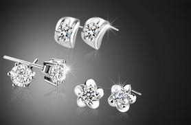 £5.99 instead of £69.99 (from Simply Jewellery) for 3 pairs of silver-plated stud earrings made with Swarovski Elements - save 91%