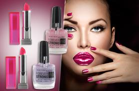 £4.99 instead of up to £9.99 (from My Perfume Room) for a set of 2 Maybelline lipsticks or 2 nail polishes, £9.99 for both - save up to 50%