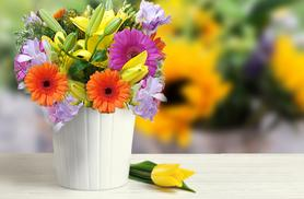 £16 instead of £34.99 (from Posy Bouquets) for a luxury spring bouquet inc. orange and cerise gerberas, yellow lilies and purple freesias - save 54%