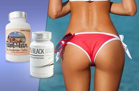 £12 instead of £64.99 (from Wowcher Direct) for a 1-month* supply of black T5 super strength 'fat burner' and Fast Tan accelerator - save 82% + DELIVERY INCLUDED!