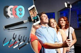 £5.99 instead of £19.99 (from SA Products) for a selfie stick, £7.99 with a Bluetooth remote control - save up to 70%