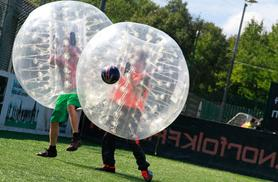 £14 for a 90-minute bubble football experience for 1 person, from £149 for up to 15 people with Bubblekickz - choose from London or Newcastle & save up to 60%