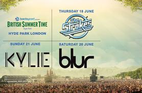 From £80 (from AEG Live) for a 2-day British Summer Time ticket to see The Strokes and Kylie, from £99 to see Kylie and Blur or Blur and The Strokes - save up to 29%