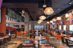 £25 for a 2-course meal for 2 inc. starter and main each, or £35 for a 3-course meal inc. glass of wine each at Planet Hollywood, Piccadilly Circus - save up to 45%