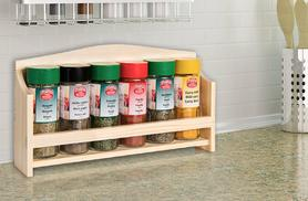 £6.99 instead of £19.99 for a wooden spice rack and six spices from Wowcher Direct - save 65%