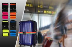 £5 instead of £17.50 (from London Exchainstore) for a colourful luggage strap and padlock, £8 for two - save up to 75%