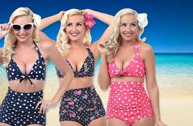 £9.99 instead of £24.99 (from Shine Accessories) for a vintage-style bikini in a choice of 6 designs - save 60%