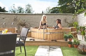 £20 for spa access, bubbly and dinner for 1 person, £40 for 2, or  £29 for spa access, bubbly & a treatment for 1 person or £58 for 2 - save up to 50%