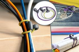 £4.99 instead of £8 for a pack of 10 rubber elastic Quirky Bandits from Wowcher Direct - tidy cables, bundle stationery, hang cords and more and save 38%