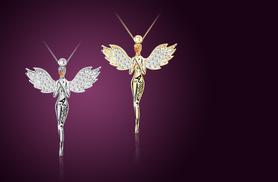 £8 instead of £40 (from Alvi's Fashion) for a guardian angel pendant made with Swarovski Elements - save 80%