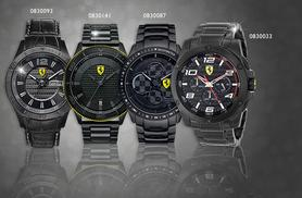 From £129 (from Shop on Time) for a men's Scuderia Ferrari watch in a choice of 17 designs - save up to 63%