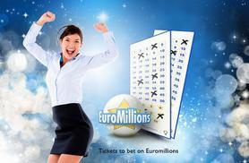£5 (from PlayLottery.com) for 110 syndicate EuroMillions bet entries, £10 for 220, £15 for 330, £20 for 440 or £25 for 550 - save up to 50%