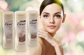 £8.99 instead of £16.57 for a triple pack of 250ml Dove Summer Glow Nourishing Lotion from ClearChemist - save 46%