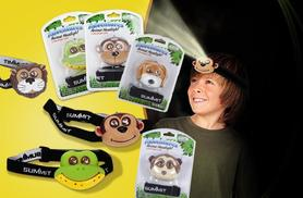 £4.99 instead of £19.99 (from London Exchainstore) for a kids' animal headlight - choose from 5 designs and save 75%