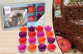 £5.99 instead of £19.99 (from London Exchainstore) for a chocolate baking set including a recipe book and 16 mini silicone moulds - save 70%