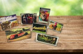 From £9.99 (from ClickWrap) for a personalised glass photo frame - choose from 7 designs