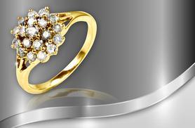 £349 instead of £1899 (from Bijou Amour) for a 0.75 carat diamond cluster ring set in 9 carat white or yellow gold - save 82%