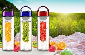 £4.99 (from Zoozio) for a fruit-infusing water bottle in red, purple or blue - save a refreshing 75%