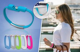 £5 instead of £19.99 (from ClickWrap) for a micro USB phone charging bracelet in a choice of 5 colours - charge, sync and save 75%