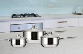 £14.99 instead of £59.99 for a 6-piece Grunwerg saucepan set from Wowcher Direct - save a pantastic 75%