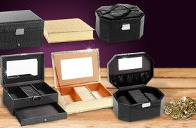 £6 for a gold faux snakeskin or black diamond jewellery box, £8 for a black faux crocodile skin box with removable tray from Wowcher Direct - save up to 80%
