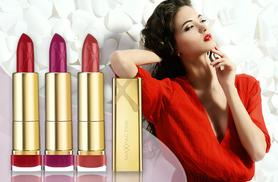 £12.99 instead of £23.48 for a set of three Max Factor Colour Elixir lipsticks from Wowcher Direct - pucker up and save 45%