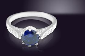 £34 instead of £149 (from British Gem) for a diamond and 1ct tanzanite ring - save 77%