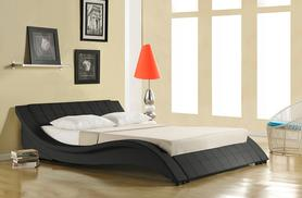 £179  for a faux leather designer bed, £189 for king size, and include an orthopaedic mattress from £259 from Wowcher Direct