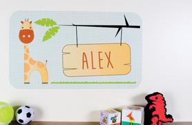 £7.99 instead of £29.95 for a giant personalised animal wall sticker, or £14.99 for two from Wowcher Direct - save up to 73%