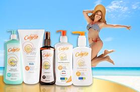 £22 instead of £43.96 (from ClearChemist) for a 5-piece Calypso sun bundle including sun lotion, aftersun and tanning oil - save 50%