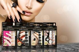 £8.99 instead of £29.95 (from The Beauty Challenge) for four sets of L'Oreal Nails a Porter press-on manicures - save 70%