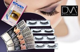 £6 instead of £30 (from DVA Beautique) for 10 pairs of premium hand-crafted lashes with adhesive glue - choose from four styles & save 80%