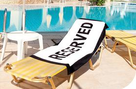 £8.99 instead of £29.99 (from London ExchainStore) for a 'Reserved' beach towel - save 70%