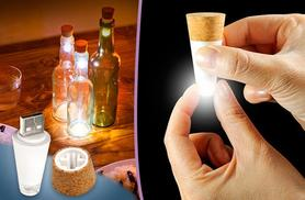 £9.99 instead of £24.99 (from London Exchainstore) for two USB rechargeable LED bottle cork lights, £18.99 for four - save up to 60%