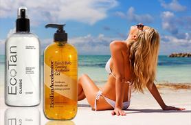 £14.99 for 500ml EcoTan tan accelerator gel, £19.99 for 500ml EcoTan tanning spray from Wowcher Direct - get sun-kissed skin!