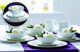 £7 (from Dinner Warehouse) for a set of 4 mugs, £19.99 for a 12pc dinner set or £25 for both