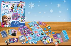 £9.99 instead of £19.01 for a 6-in-1 Frozen board game from Wowcher Direct - save 47%