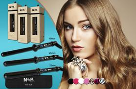 £29.99 for a Naked Hair ceramic curling wand in a choice of 7 designs from Wowcher Direct