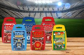 £4 instead of £7.99 (from Spectrum World) for a football Top Trumps game - choose Arsenal, Man Utd, Man City, Chelsea, Liverpool or world superstars and save 50%