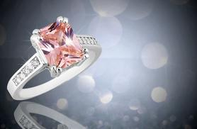 £39.99 instead of £279 (from Your Ideal Gift) for a white gold ring with a 2.5 carat pink sapphire crystal - save 86%