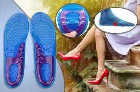 £5 instead of £14.99 (from The Treasure Chest) for a pair of cushioned silicone gel insoles - treat your feet and save 67%