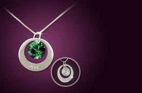 £8 instead of £50 (from Cian Jewels) for a double-sided engraved birthstone necklace - save 84%