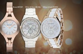 £149 instead of up to £212.01 (from Gray Kingdom) for a ladies' Emporio Armani watch - save up to 30%