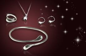 £14 instead of £99.99 (from Alvi's Fashion) for a silver plated 4-piece jewellery set - save up to 86%