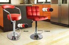 From £49.99 for two stylish faux leather breakfast bar stools, from £97.99 for four stools from Wowcher Direct - save up to 56%