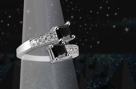 £39.99 instead of £279 (from Your Ideal Gift) for a 1.5ct black sapphire and 10ct white gold filled ring - save 86%